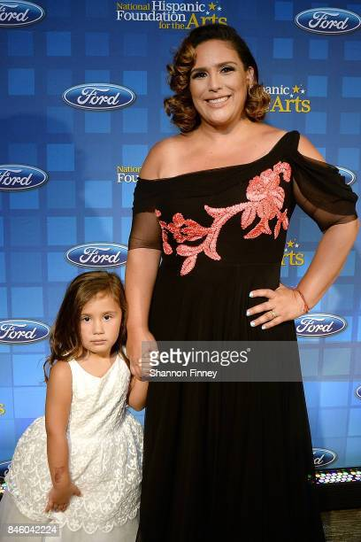 Actress Angelica Vale walks the red carpet with her daughter Angelica at the National Hispanic Foundation for the Arts 2017 Noche de Gala at The...