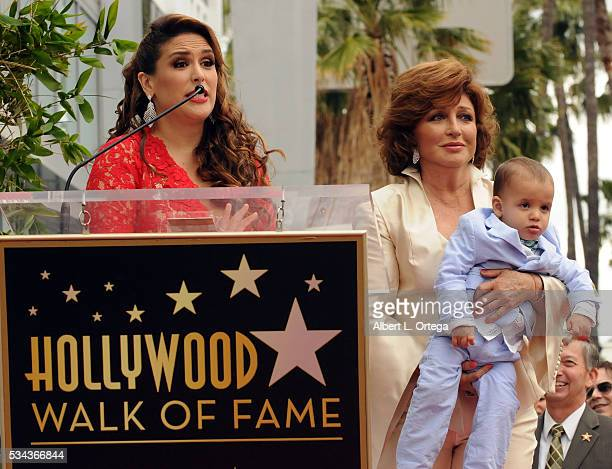 Actress Angelica Valle and mother/singer/actress Angelica Maria Otto Padron at the Angelica Maria Star ceremony held On The Hollywood Walk Of Fame on...