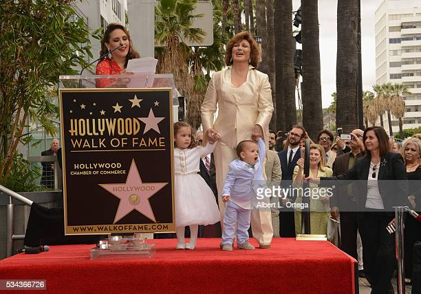 Actress Angelica Valle and mother/singer/actress Angelica Maria Angelica Padron and Otto Padron at the Angelica Maria Star ceremony held On The...