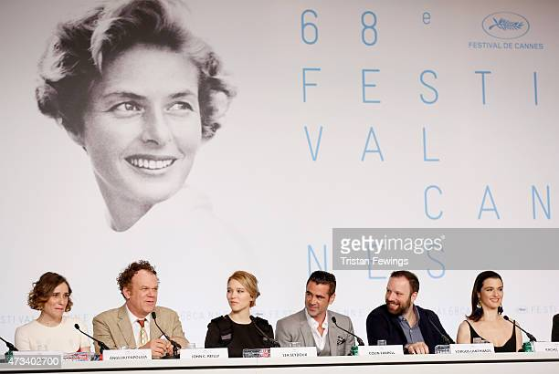 Actress Angeliki Papoulia actor John C Reilly actress Lea Seydoux actor Colin Farrell director Yorgos Lanthimos and actress Rachel Weisz attend the...