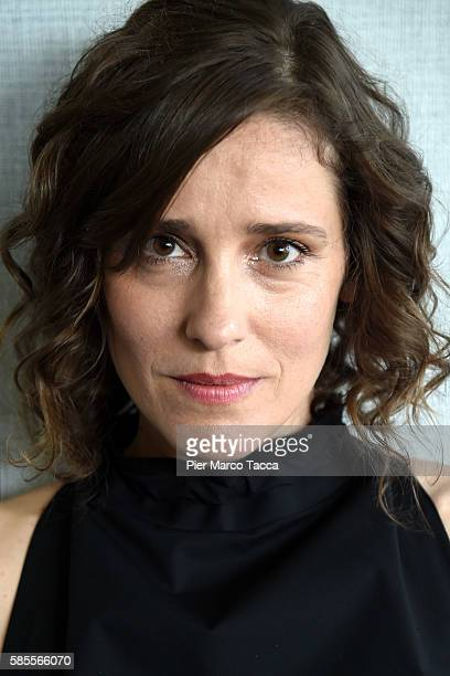 Actress Angeliki Papoulia attends a photocall during the 69th Locarno Film Festival on August 3 2016 in Locarno Switzerland