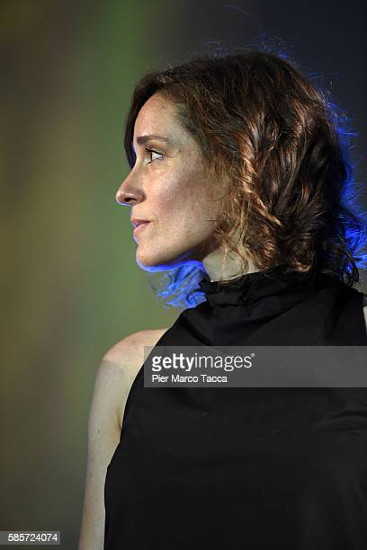 Actress Angeliki Papoulia attends the opening ceremony during the 69th Locarno Film Festival on August 3 2016 in Locarno Switzerland