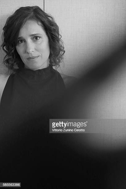 Actress Angeliki Papoulia poses during the 69th Locarno Film Festival on August 3 2016 in Locarno Switzerland