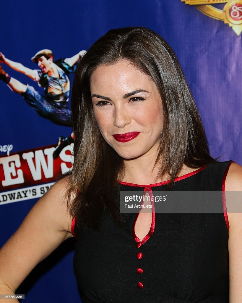 "Angelina Assereto actress angelina assereto attends ""newsies"" opening night at"