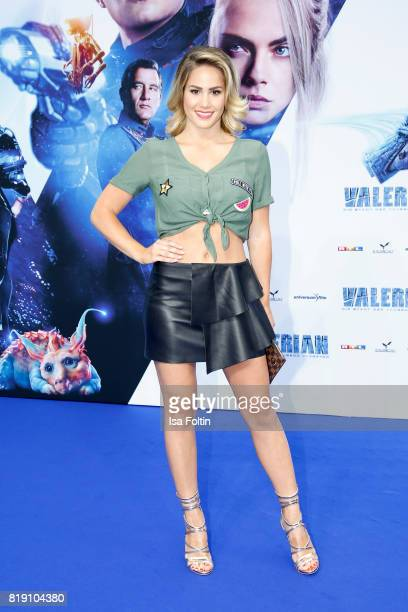 TV actress Angelina Heger during the 'Valerian Die Stadt der Tausend Planeten' premiere at CineStar on July 19 2017 in Berlin Germany