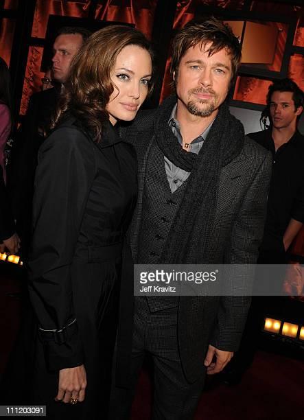 Actress Angelina Jolie and Actor Brad Pitt arrives at the 13th ANNUAL CRITICS' CHOICE AWARDS at the Santa Monica Civic Auditorium on January 7 2008...