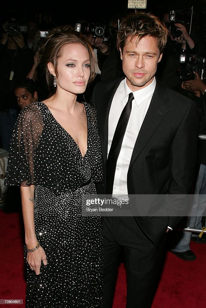 Actress Angelina Jolie and actor Brad Pitt attend the World Premiere of 'The Good Shepherd' presented by Universal Pictures at the Ziegfeld Theatre on December 11, 2006 in New York City