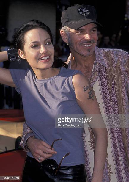 Actress Angelina Jolie and Billy Bob Thornton attend the world premiere of 'Gone In 60 Seconds' on June 5 2000 at Mann Theater in Westwood California