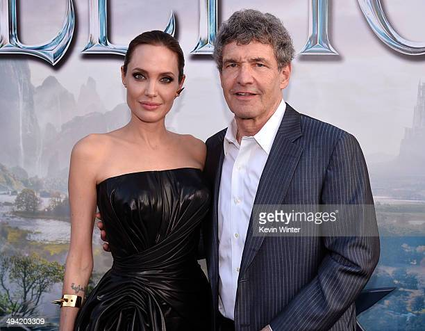 Actress Angelina Jolie and Chairman of the Walt Disney Studios Alan Horn attends the World Premiere of Disney's Maleficent at the El Capitan Theatre...