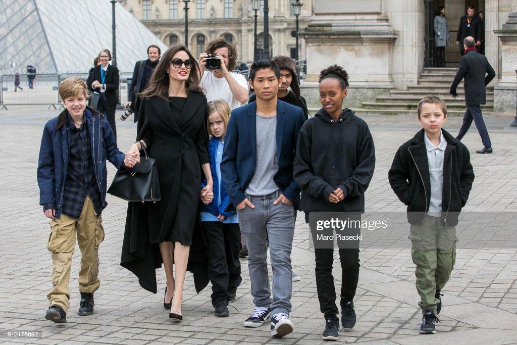 Angelina Jolie Sighting in Paris : News Photo