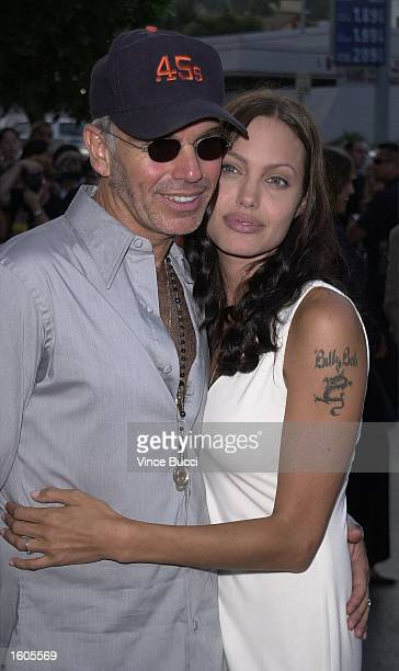 Actress Angelina Jolie and her husband actordirector Billy Bob Thornton attend the premiere of the MGM Pictures'' film 'Original Sin' July 31 2001 in...
