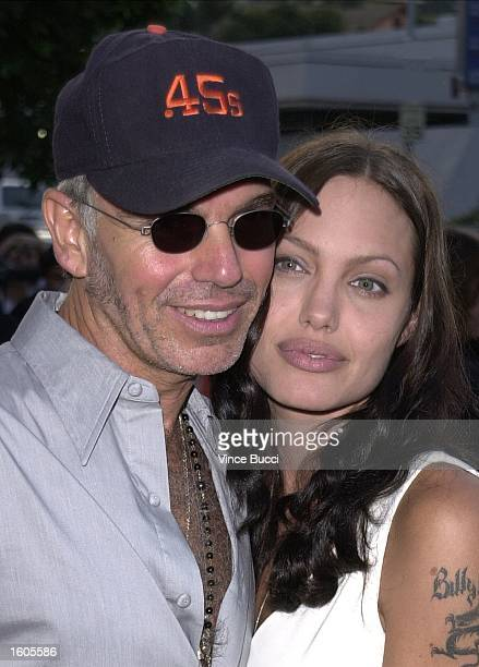 Actress Angelina Jolie and her husband Billy Bob Thornton attend the premiere of the MGM Pictures film 'Original Sin' July 31 2001 in Hollywood CA