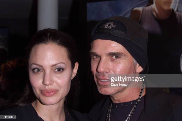 Actress Angelina Jolie and husband actor Billy Bob Thornton at the UK premiere of her new film 'Lara Croft Tomb Raider' at the Empire Cinema on July...