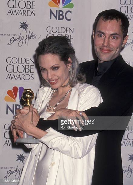Actress Angelina Jolie and James Haven attend 57th Annual Golden Globe Awards on January 23 2000 at the Beverly Hilton Hotel in Beverly Hills...