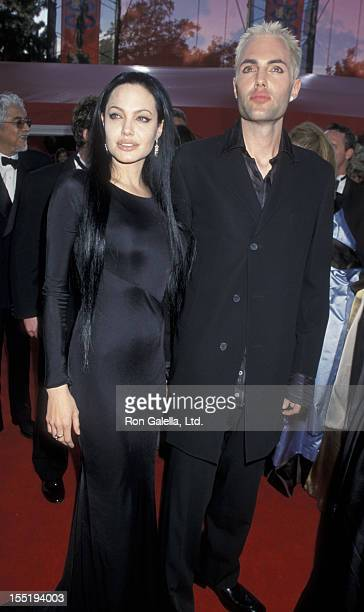 Actress Angelina Jolie and James Haven attend 72nd Annual Academy Awards on March 26 2000 at the Shrine Auditorium in Los Angeles California