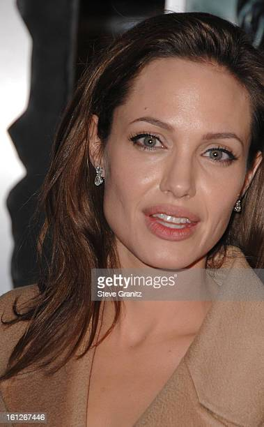 Actress Angelina Jolie arrive at the Los Angeles Premiere of 'Beowulf' at Westwood Village on November 5 2007 in Weswood California