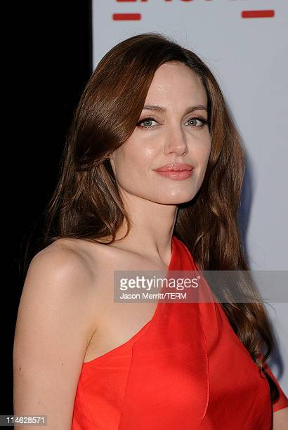 Actress Angelina Jolie arrives at premiere of Fox Searchlight Pictures' The Tree of Life at Bing Theatre at the Los Angeles County Museum of Art on...