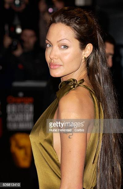 Actress Angelina Jolie arrives at the 2003 BAFTA film awards