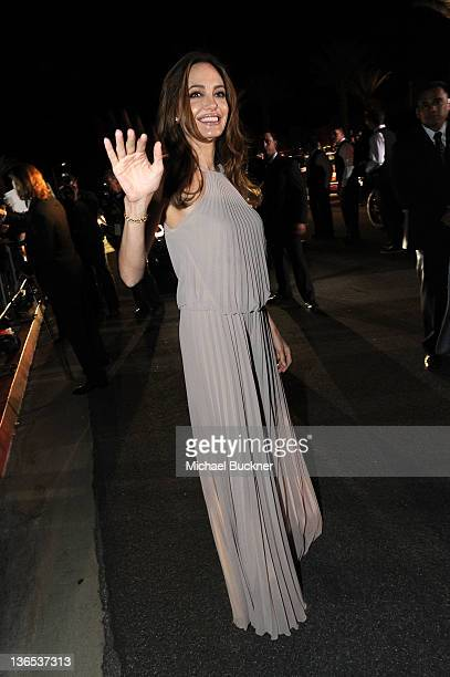 Actress Angelina Jolie arrives at The 23rd Annual Palm Springs International Film Festival Awards Gala at the Palm Springs Convention Center on...