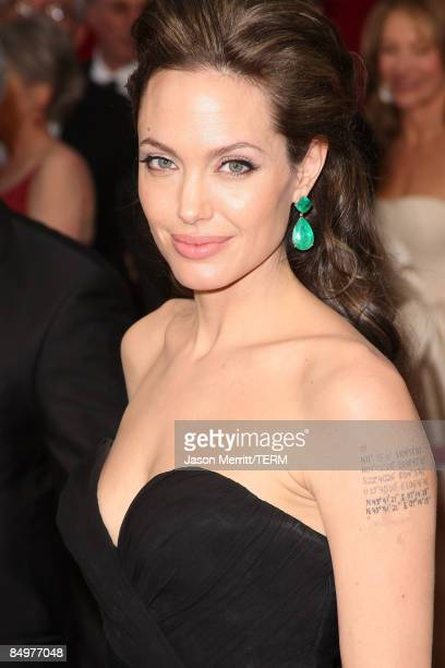 Actress Angelina Jolie arrives at the 81st Annual Academy Awards held at Kodak Theatre on February 22 2009 in Los Angeles California