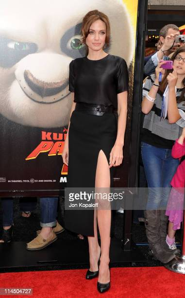 Actress Angelina Jolie arrives at the Los Angeles Premiere 'Kung Fu Panda 2' at Grauman's Chinese Theatre on May 22 2011 in Hollywood California