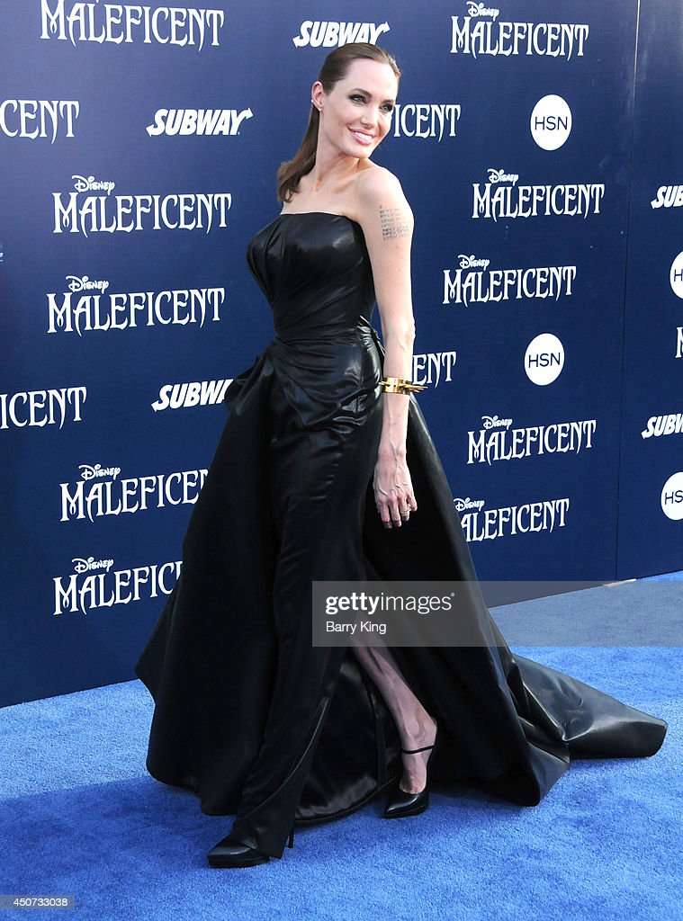 Actress Angelina Jolie arrives at the Los Angeles premiere of 'Maleficent' on May 28, 2014 at the El Capitan Theatre in Hollywood, California.