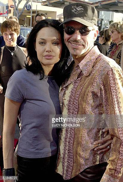 US actress Angelina Jolie arrives at the premiere of her new film 'Gone in 60 Seconds' with her new husband actor/director Billy Bob Thornton in Los...