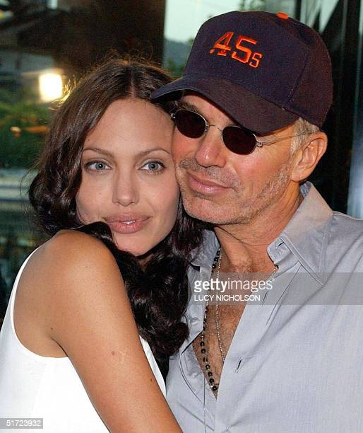 US actress Angelina Jolie arrives at the premiere of her new film 'Original Sin' with her husband Billy Bob Thornton in West Hollywood CA 31 July...