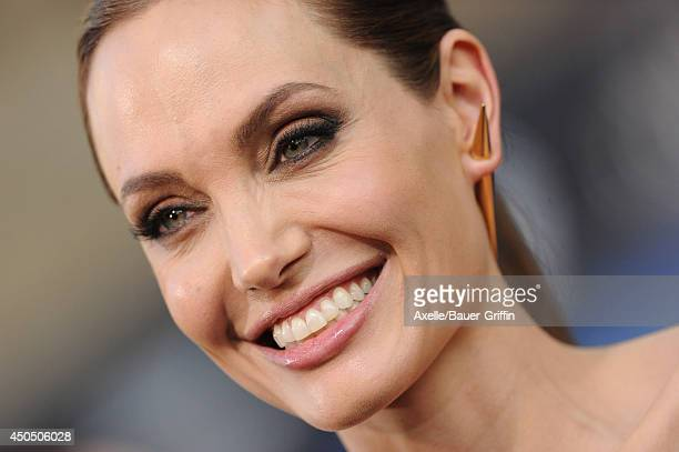 Actress Angelina Jolie arrives at the World Premiere of Disney's 'Maleficent' at the El Capitan Theatre on May 28 2014 in Hollywood California