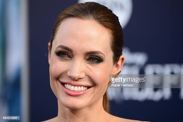 """Actress Angelina Jolie arrives at the World Premiere Of Disney's """"Maleficent"""" at the El Capitan Theatre on May 28, 2014 in Hollywood, California."""