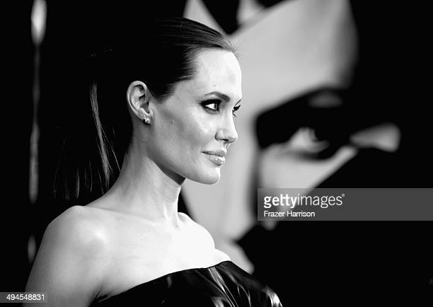 "Actress Angelina Jolie arrives at the World Premiere Of Disney's ""Maleficent"" at the El Capitan Theatre on May 28, 2014 in Hollywood, California."
