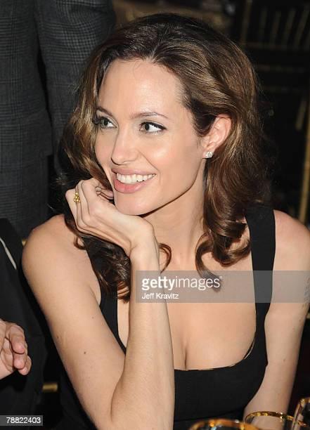 Actress Angelina Jolie at the 13th ANNUAL CRITICS' CHOICE AWARDS at the Santa Monica Civic Auditorium on January 7, 2008 in Santa Monica, California.