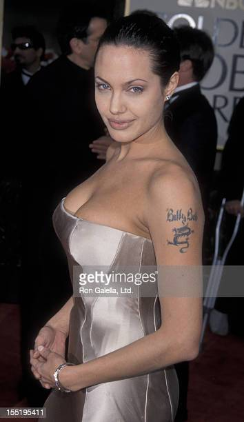 Actress Angelina Jolie attends 58th Annual Golden Globe Awards on January 21 2001 at the Beverly Hilton Hotel in Beverly Hills California