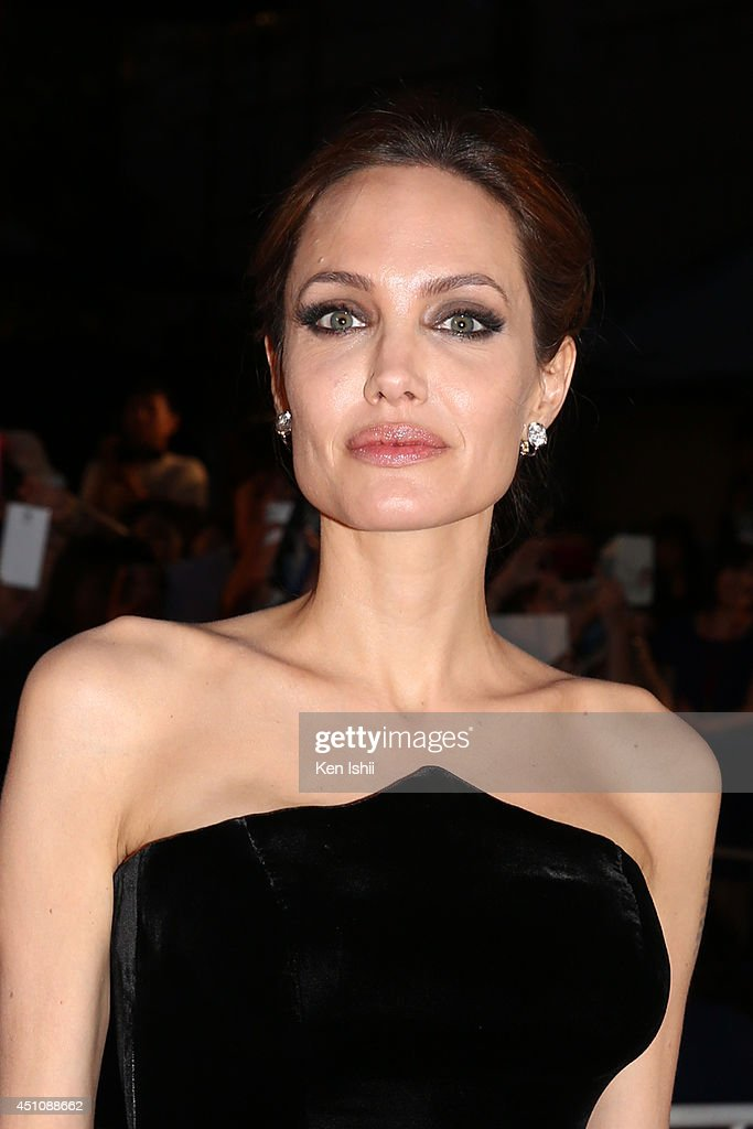 Actress Angelina Jolie attends 'Maleficent' Japan premiere at Ebisu Garden Place on June 23, 2014 in Tokyo, Japan.
