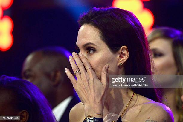 Actress Angelina Jolie attends Nickelodeon's 28th Annual Kids' Choice Awards held at The Forum on March 28 2015 in Inglewood California