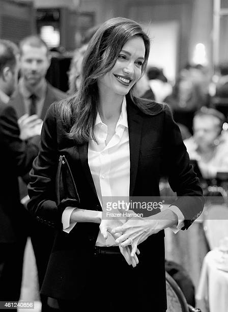 Actress Angelina Jolie attends the 15th Annual AFI Awards at Four Seasons Hotel Los Angeles at Beverly Hills on January 9 2015 in Beverly Hills...