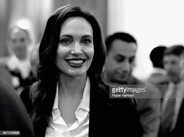 Actress Angelina Jolie attends the 15th Annual AFI Awards at Four Seasons Hotel Los Angeles at Beverly Hills on January 9, 2015 in Beverly Hills,...
