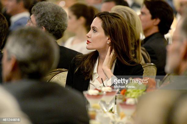 Actress Angelina Jolie attends the 15th Annual AFI Awards Luncheon at Four Seasons Hotel Los Angeles at Beverly Hills on January 9 2015 in Beverly...