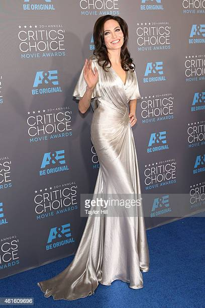 Actress Angelina Jolie attends The 20th Annual Critics' Choice Movie Awards at Hollywood Palladium on January 15 2015 in Los Angeles California