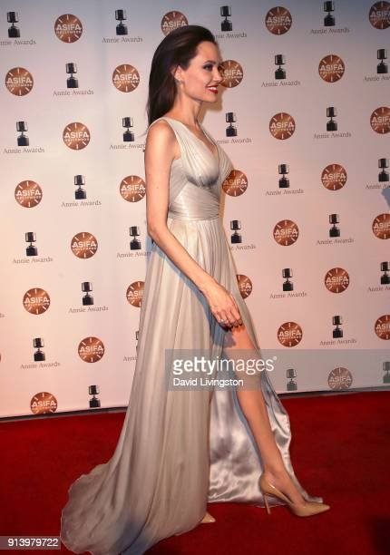 Actress Angelina Jolie attends the 45th Annual Annie Awards at Royce Hall on February 3 2018 in Los Angeles California