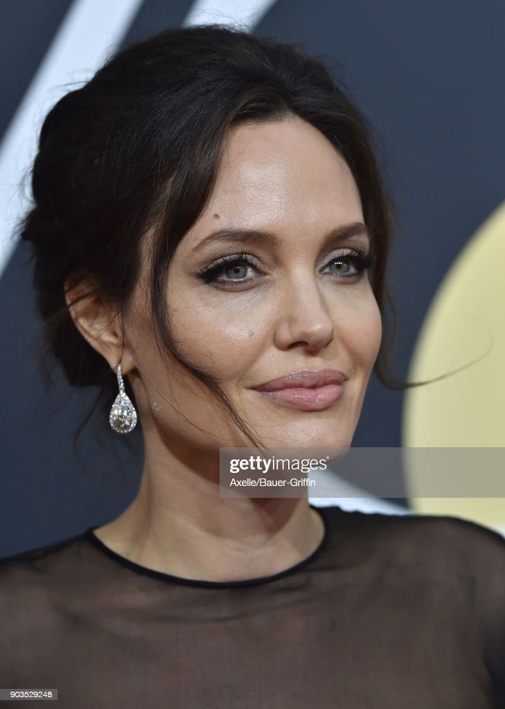 Actress Angelina Jolie attends the 75th Annual Golden Globe Awards at The Beverly Hilton Hotel on January 7, 2018 in Beverly Hills, California.