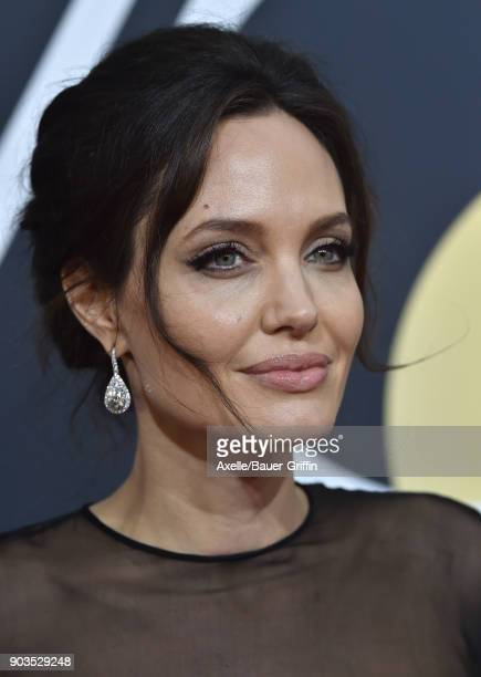 Actress Angelina Jolie attends the 75th Annual Golden Globe Awards at The Beverly Hilton Hotel on January 7 2018 in Beverly Hills California