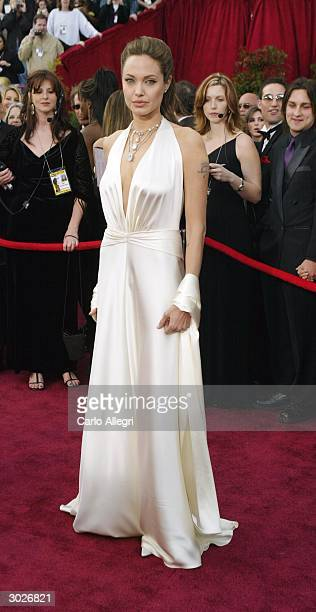 Actress Angelina Jolie attends the 76th Annual Academy Awards at the Kodak Theater on February 29 2004 in Hollywood California