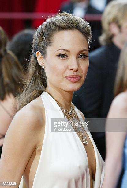 Actress Angelina Jolie attends the 76th Annual Academy Awards on February 29 2004 at the Kodak Theater in Hollywood California