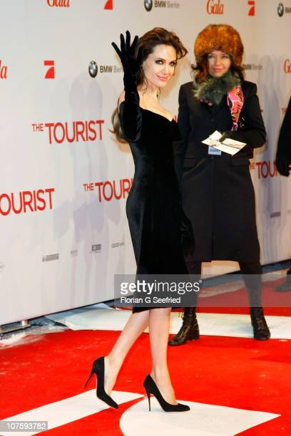 Actress Angelina Jolie attends the European Premiere of 'The Tourist' at CineStar at Potsdamer Platz on December 14, 2010 in Berlin, Germany.