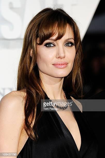 Actress Angelina Jolie attends the german premiere of 'Salt' at cinema Cine Star Potsdamer Platz on August 18 2010 in Berlin Germany