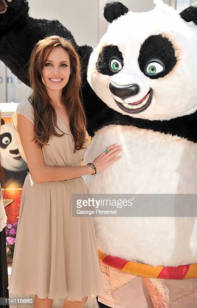 Actress Angelina Jolie attends the 'Kung Fu Panda 2' Photocall during the 64th Cannes Film Festival at the Carlton Hotel on May 12 2011 in Cannes...