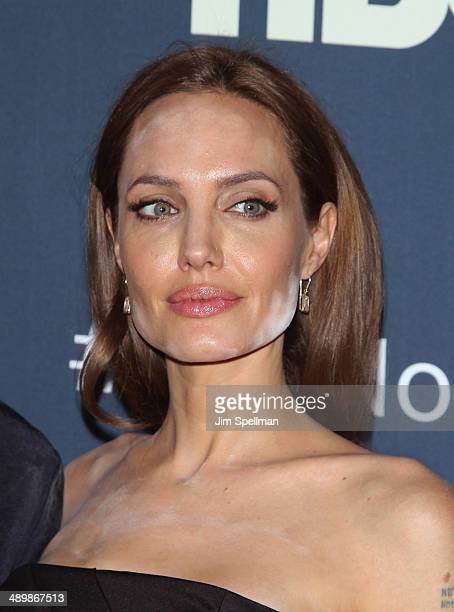 Actress Angelina Jolie attends 'The Normal Heart' New York Screening at Ziegfeld Theater on May 12 2014 in New York City