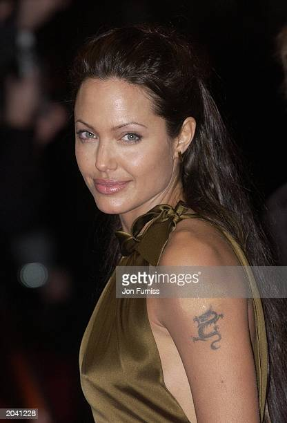 Actress Angelina Jolie attends the Orange British Academy Film awards ceremony at the Odeon Leicester Square on February 23 in London England...