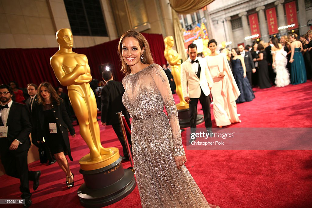 Actress Angelina Jolie attends the Oscars held at Hollywood & Highland Center on March 2, 2014 in Hollywood, California.